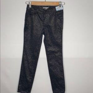 Girls cat & jack sparkly black pants size 8